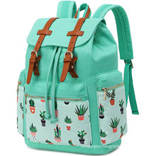 OEM Brand Customized Daypack Polyester Outdoor Students Backpack School Bag for Teenage Girls