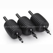 Poignées souples jetables de silicone de tatouage de 38mm bon marché avec les bouts noirs
