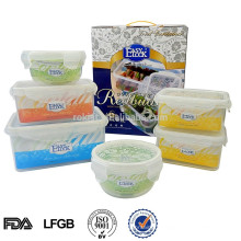 Airtight plastic food storage preserving container box set