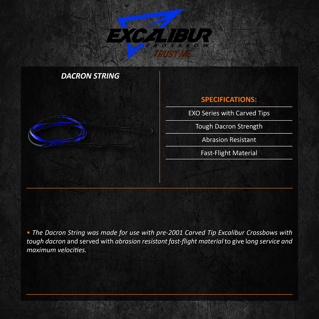 Excalibur_Dacron_Strings_Product_Description