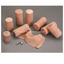 La Chine fabrique le bandage élastique de crêpe de couleur de peau de bandage de coton de 80%