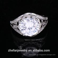 Großhandelsschmucksache liefert große runde Formring-Hochzeitszusätze Chinas