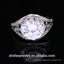 wholesale jewelry supplies china big round shape ring wedding accessories