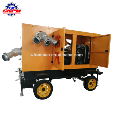 Water pump for agricultural irrigation of a moving trailer pump
