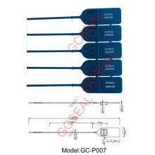 Sello de seguridad de la bolsa de plástico de Material PP GC-P007