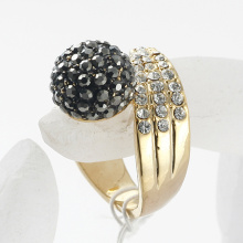 Rhinestone Ball Ring zinc alloy with gold Plated rings,Fashion jewelry, nickel free Rhinestone decorate wholesale finger ring