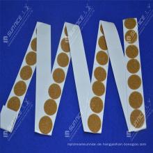 Logo bedruckte selbstklebende klebrige Haken und Schleifenmünzen
