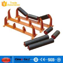 Rolos padrão do tensor do portador do impacto do transporte de correia da mina de carvão feitos em China