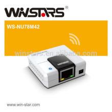 Serveur d'impression usb 2.0 à 4 ports avec adaptateur secteur, permet un disque dur externe