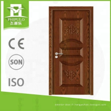 Porte intérieure en mélamine résistante aux chocs de l'usine de portes de Chine