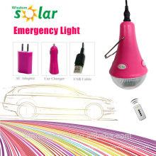 Lámpara portátil de luz de emergencia LED de ahorro de la energía recargable