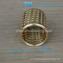 Precision Guide Ball Cage with Circlip,Brass High Precision Ball Cage with Wear Ring Made in China
