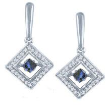 Heiße Verkäufe 925 silberne Bolzen-Ohrring-Schmucksachen mit dem Tanzen-Diamanten