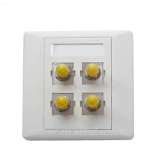 FBT 4 Port ST Simplex Fiber Optic Faceplate / Klemmenkasten