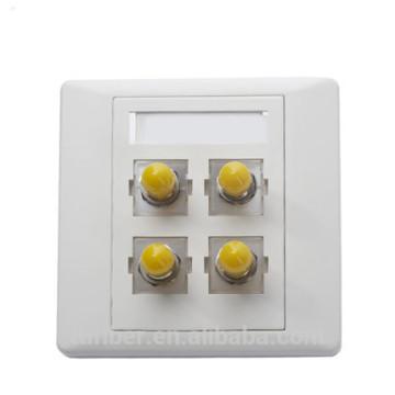 FBT 4 ports ST simplex Fibre Optique Faceplate / boîte à bornes
