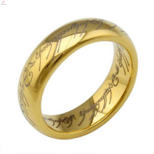 Custom designs lord engraved boys men wedding 24k carat real solid gold ring