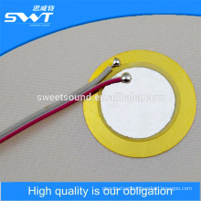 27mm piezo ceramic disc with solder wire piezo element manufacture                                                                         Quality Choice