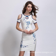 Women Sexy Short Dress with off-Shoulder Tight Dress