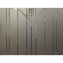 Colored Frosted/Sandblasting/Acid etched glass sheet used for bathroom office partition