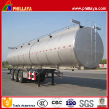 Tri-Axle 6 Compartimentos 60 Cbm Remolque cisterna de combustible de acero inoxidable