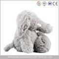 Stuffed 25cm Grey Big Ears Plush Elephant Toy for Kids