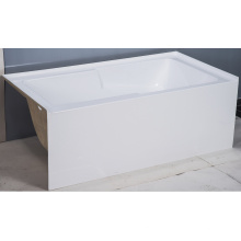 "60"" X 30-36"" Three Alcove Bath with Integral Apron Tile Flange and Left-Hand Drain"