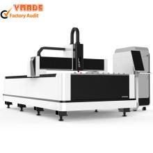 Máquina de corte por láser de fibra 1000W para chapa