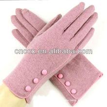 13ST1055 latest design fashion ladies cute wool gloves