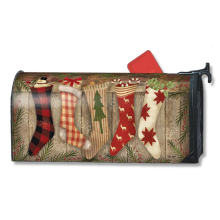 Capa de caixa de correio magnética de meia de Natal ao ar livre personalizada