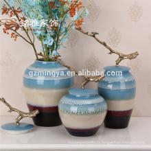 2016 Vase en céramique colorée style européen et américain décor de décoration intérieure nouveaux designs pose carreaux de sol en céramique pour maison deco