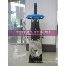 Vanne à guillotine CF8 avec cône de déviation de port Ss304 V