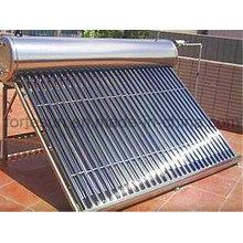 Chauffe-eau solaire de tube à vide sans pression de gravité d'acier inoxydable