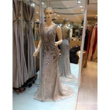 2017 reizvolle Qualitäts-wulstige sehen durch Muster Appliqued Meerjungfrau-Abend-Kleid