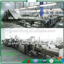 Línea de producción de pre-secado de frutas y hortalizas