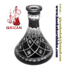 Beautiful Large Black And White Pattern Hookah Bottle