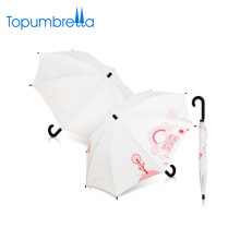45cm 8 ribs Strong windproof straight white wedding decoration umbrellas OEM