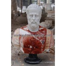Sculpture en buste de statue avec pierres de grès en granit de pierre (SY-S314)