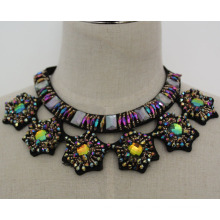 Damen Kristall Mode Charm Chunky Bib Kostüm Choker Halskette Kragen (JE0021)