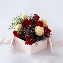 Luxury Handmade Hexagon Flower delivery Gift Box