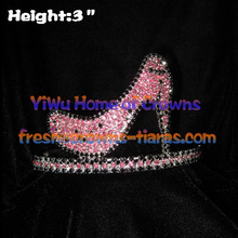 3inch High Heel Crystal Rhinestone Crowns