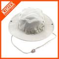 Sombrero blanco llano del cubo del algodón Venta al por mayor