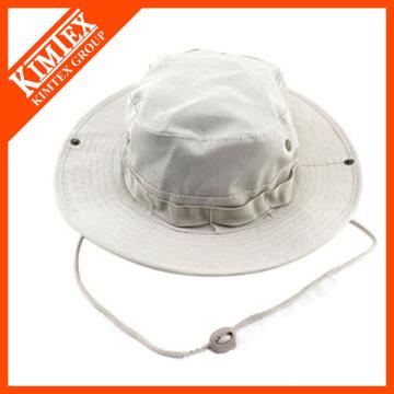 Plain White Cotton Bucket Hat Großhandel