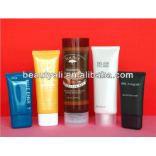 50ml oval plastic cosmetic tube for lotion with applicator