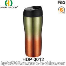 Taza de café de viaje de acero inoxidable sin BPA con tapa de tornillo (HDP-3012)