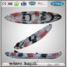 2 + 1 asientos de pesca de la familia Kayak del océano con paletas