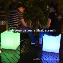 40 * 40 * 40cm couleur changeant la chaise de LED