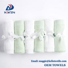 Fabrik Großhandel Super weich und saugfähig 100% Bio Bambus Baby Waschlappen, 6 Pack (weiß)