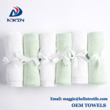 Usine En Gros Super Doux et Absorbant 100% Organique Bambou Bébé Gant de toilette, 6 Pack (Blanc)