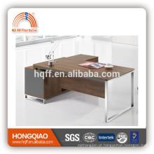 mesa de escritório executiva de pés de aço mesa de recepção durável de computador moderna