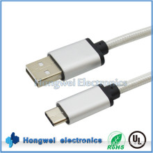 Aluminum Nylon Braided USB 2.0 a to Type C Cable